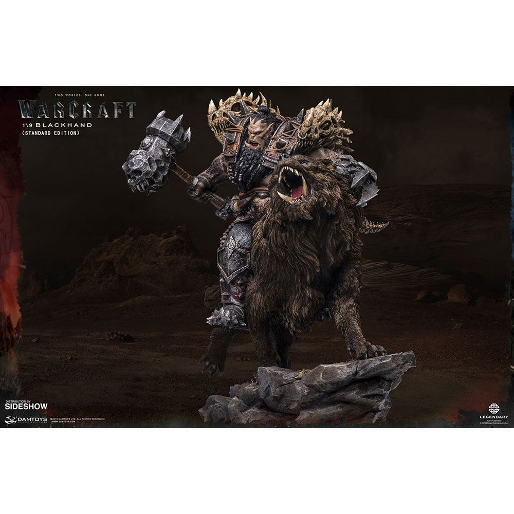 Figurine BLACKHAND RIDING WOLF